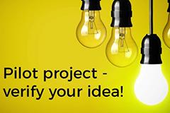Pilot project - verify your idea!