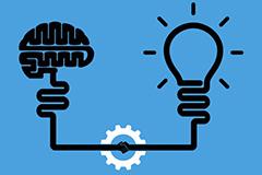 Brain to Lightbulb Illustration
